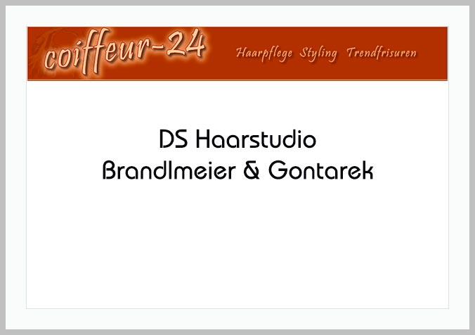 Bildtafel mit Logo des DS Haarstudio